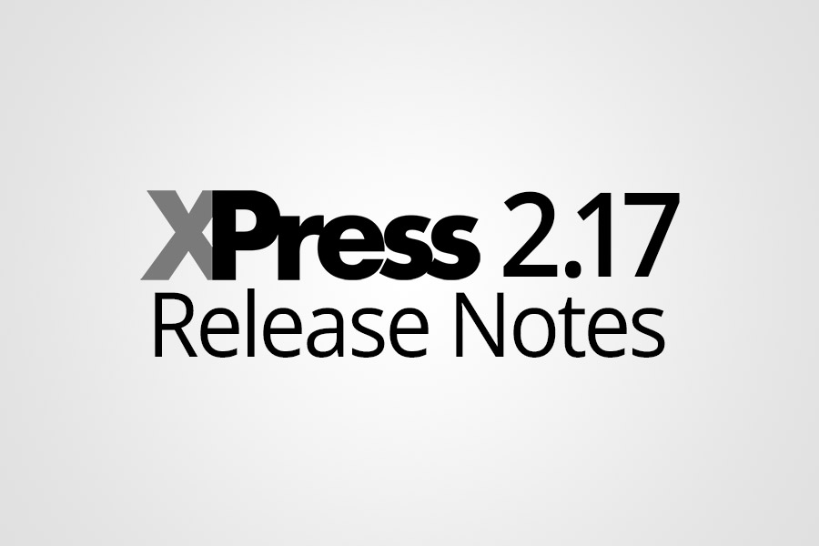 XPress 2.17 Release Notes Featured Image - Featured Image - Smaller